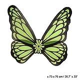 wunderschöne Schmetterlingsflügel / Feenflügel in neongrün - schwarz