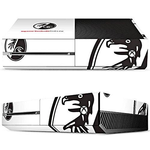 Microsoft Xbox One Case Skin Sticker aus Vinyl-Folie Aufkleber SC Freiburg Fanartikel Fußball