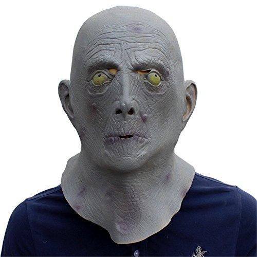 Horror Latex Alten Mann Kopf Alien Maske Cosplay Verrückte Props (Alien Halloween Requisiten)