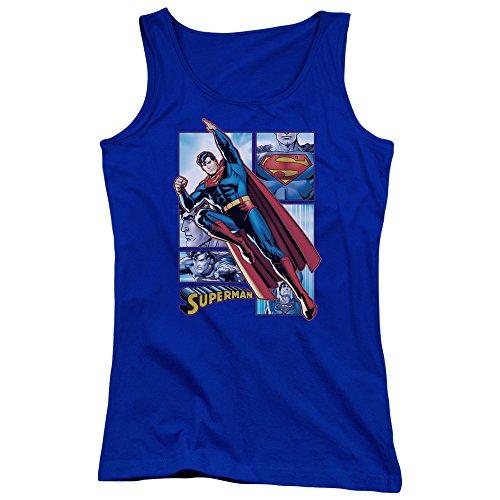 Justice League - Superman Panneaux Jeunes Femmes Débardeur Royal