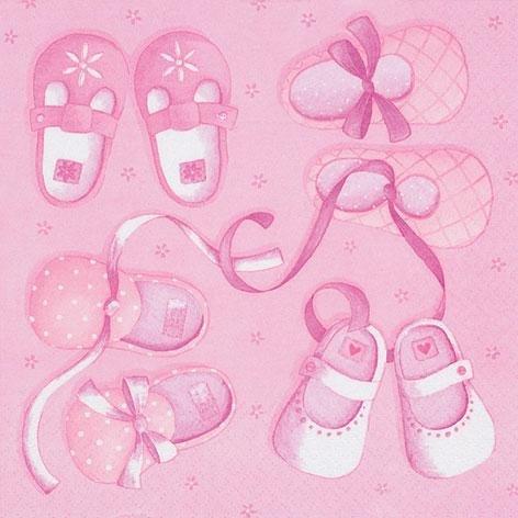 Taufservietten Servietten Taufe Mädchen rosa Tischdeko