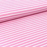 Bio Jersey Streifen 0,5 m x 160 cm/Meterware (Strawberry