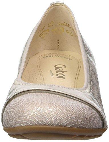 Gabor Shoes Comfort, Ballerine Donna Argento (platino 63)