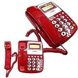takestop® TELEFONO FISSO DA TAVOLO kxt025 CON TASTI GRANDI RETRO ILLUMINATI LUCE FUNZIONE MUTO ANZIANI PER CASA UFFICIO colore casuale immagine