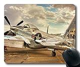 Yanteng avión Vintage, Alfombrilla de ratón para Juegos, helicóptero de Combate, Alfombrilla de ratón con Bordes cosidos
