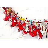 Grafner® XXL Adventskalender Weihnachtskalender aus Filz 24 Säckchen Stiefel