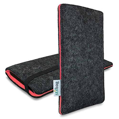 Stilbag Filztasche 'FINN' für Apple iPhone SE - Farbe: anthrazit/lachs