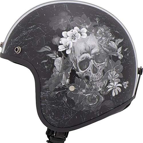 Helm Jet Helmet MTR Fiber Skull Grey GRAU geprüft ECE 2XL grau