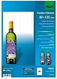 Sigel DE160 InkJet-Flaschen-Etiketten zum Selbstgestalten, hochweiß, (Ink), hochglänzend, selbstklebend, 85 g, 80x120 mm (A4), 20 ST=5 BL