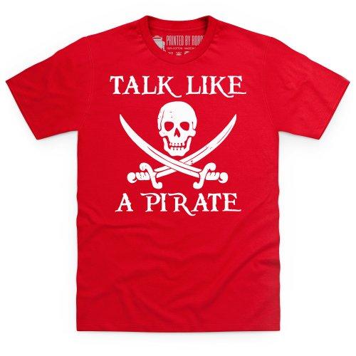 Talk Like a Pirate T-Shirt, Herren Rot