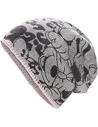 CODELLO Strickmütze mit Alloverprint Mickey Leo Disney mitteldick creme grau 72117811