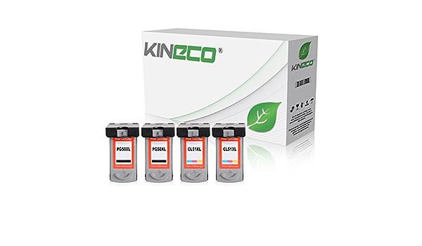 4 Kineco Ink Cartridges Compatible With Canon Pg 50 Cl 51 Fine High Pixma Mp150 Mp160 Mp170 Mp180 Mp450 Mp460 Mx300 Mx310 Bürobedarf Schreibwaren