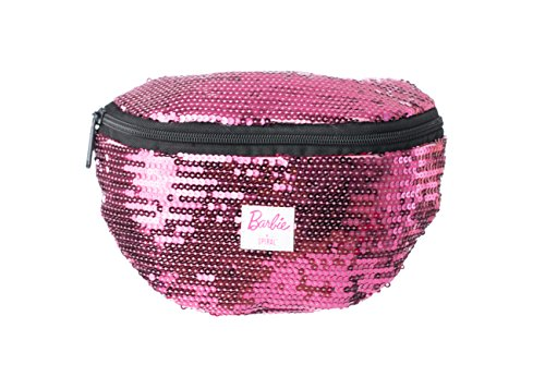 Spiral Barbie Disco Sequin Pink Bum Bag Sac Banane Sport, 24 cm, 3 liters, Rose (Pink)