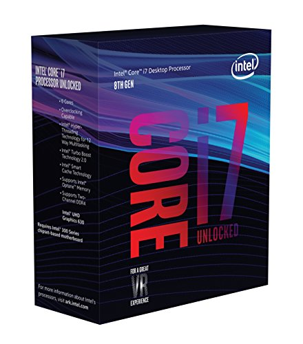 Intel Core i7-8700K Processor (6x 3.7 GHz Taktfrequenz, 12 MB L3-Cache, Boxed ohne Kühler)