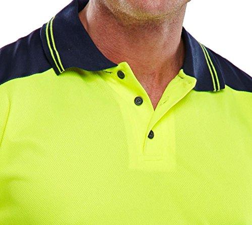 FK Styles Männer T-Shirt Hallo Sichtbarkeit 2 tone Arbeitskleidung Polo Gelb