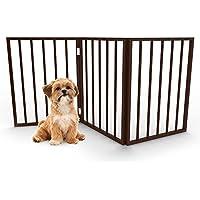 PETMAKER - Puerta de Caoba sin apoyos para Mascotas.