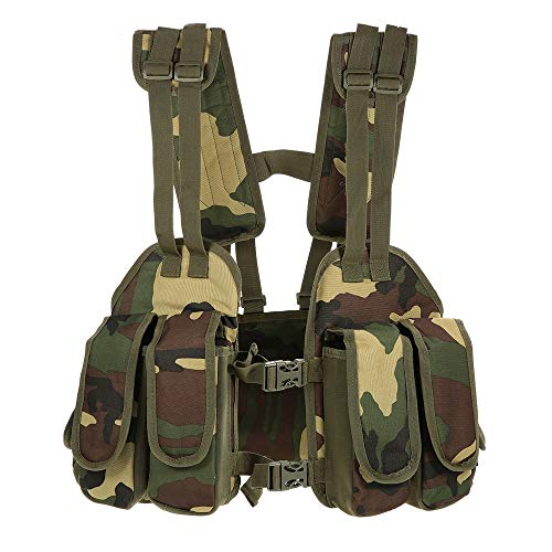 Docooler Unisex Outdoor Tactical Chest Rig Adjustable Padded Modular Military Vest Mag Pouch (Multicolor)