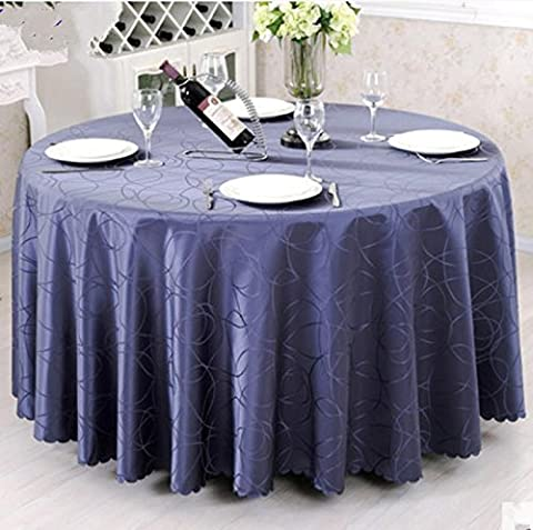 Big Size Polyester mariage Nappe Jacquard Round Table Cloth Hôtel Dining Table Cover Decor massif Linge de table , 2 , 260cm
