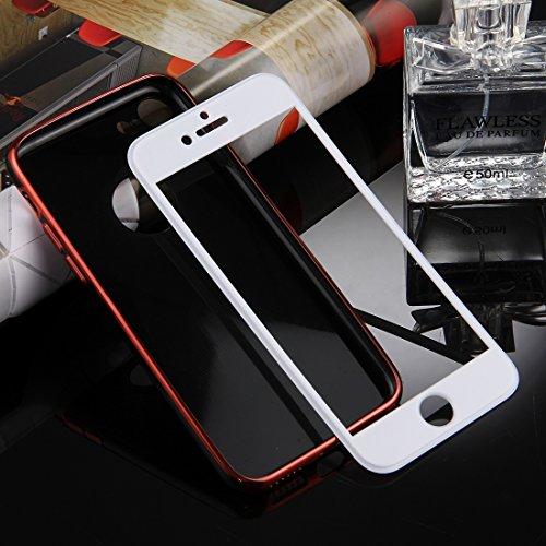 Wkae 360 Grad Shockproof abnehmbare Galvanotechnik TPU + PC Kombination Schutzhülle mit weißer PC Abdeckung für iPhone 7 ( Color : Red ) Red