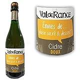 Cidre doux Val de Rance Plaisir sucré et Dessert 2° 75cl