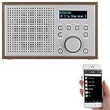auvisio Internetradios: WLAN-Internetradio mit Holzdesign-Gehäuse, 2 Weckzeiten & App, 10 Watt...