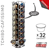 Tavolaswiss MAESTRO Kapselspender für 32 TCHIBO Cafissimo / K-Fee / Expressi ALDI Kapseln, 360° drehbar