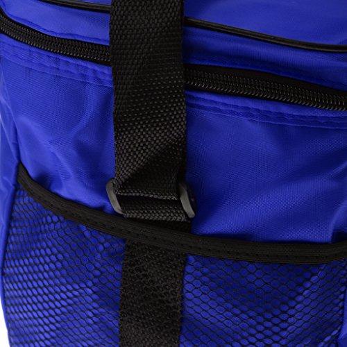 Tragbare Wasserdichte Picknicktasche Campingtasche Thermotasche Isolierte Thermo für Ausflug Camping Schule Büro Lebensmitteltransport - Rot Blau