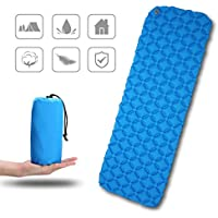 Ultralight Inflating Mattress,CAMTOA Inflating Mat/Inflatable Pad Mattress/Inflating Sleeping Pad/Air Bed/Inflatable Lounger/Camping Sleeping Mat/Air Mattress-Compact,Waterproof,Moistureproof,Comfortable for Hiking,Backpacking,Hammock,Tent,Camping,Travelling,Outdoor & Indoors