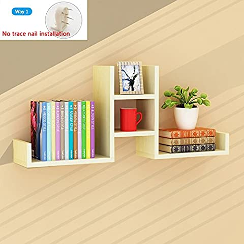 Wall Shelf, Wall Living Room Monolithic, Shelf Wall, Wallboard, Bookcase, Modern Simple Decorative ( Color : White maple