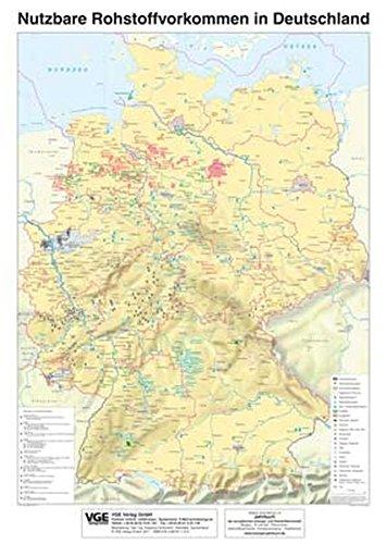 Nutzbare Rohstoffvorkommen in Deutschland: Wirtschaftsgeographische Wandkarte