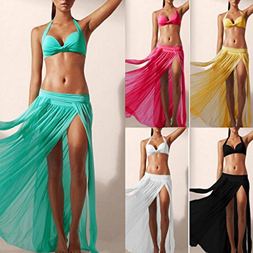MagiDeal Copri Costume Da Bagno Sexy Bikini Pura Pannello Esterno Della Spiaggia Maxi Velo Vestito Cover - Multicolore Verde
