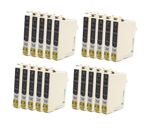 Preisvergleich Produktbild 20x schwarz Tintenpatronen mit CHIP, kompatibel zu Epson T1281 für Epson Stylus Office BX 305F / BX 305FW / Stylus S 22 / Stylus SX 125 / Stylus SX 420W / Stylus SX 435W / Stylus SX 425W