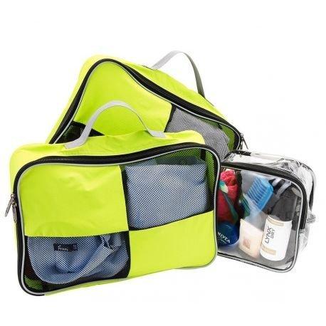 Cubi per bagagli con maniglia per fare i bagagli con facilità più astuccio da toilette 20x20x10 idonea per bagaglio a mano