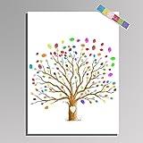 LianLe Huella Digital de la Boda Lienzo Firma el Libro de Visitas del árbol de Amor