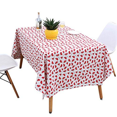 Prevently Tischdecke Tischtuchrolle Tischtuch Tischwäsche Flagge Grain Tischdecke Baumwolle Leinen...
