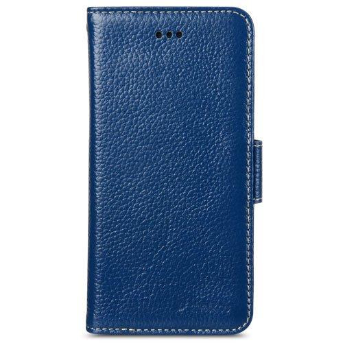 Melkco Premium Leather Case für Apple iPhone 6 11,3 cm (4,7 Zoll) Wallet Buch Typ schwarz Dunkel Blau 2