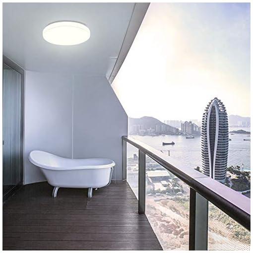 Öuesen 18W moderno impermeabile LED Lampada a soffitto tondo sottile plafoniera 1650lm Bianco caldo 3000K plafoniere a led per Soggiorno Sala da pranzo Camera da letto Bagno Cucina Balcone Corridoio