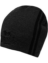 Herren Mütze Stil Zwei Streifen Strickmütze mit Kopfbedeckungen Zubehör