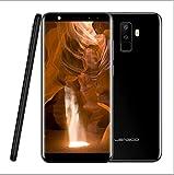 """telephone portable debloqué,smartphone pas cher 3g,leagoo m9 5.5 """"écran Quad Core 1.3GHz 8MP quad caméras 2 Go RAM + 16 Go ROM Extension de 32 Go Android 7.0 langue multinationale FOTA améliorer de Leagoo Direct,Noir"""