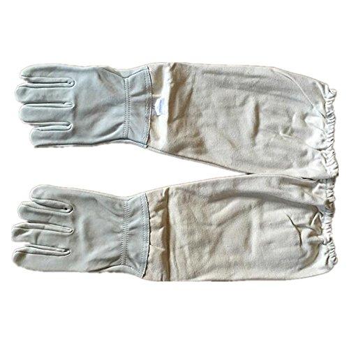 1 paire de l'apiculture en peau de mouton gants de protection avec ventilé manches longues pour apiculteurs XL Canvas