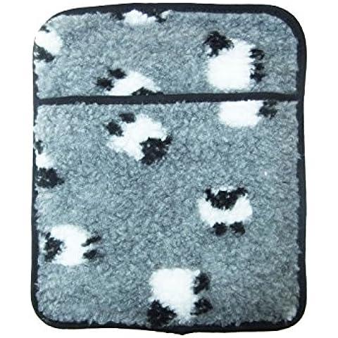 Hotties bolsa de agua caliente para microondas, vellón, de ovejas sherpa