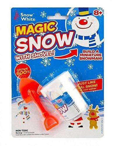 Magic Set mit Schnee-Schaufel - Wächst 600% - Bauen Sie ein Miniatur-Schneemann - (White Snow Disney)