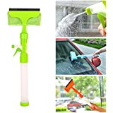 Maharaj Glass Cleaner Wiper - 3-in-1 Windshield Cleaner Brush Glass Wiper Squeegee Washer Cleaner With Microfiber Scrubber Spray Bottle For Window Shower Floor Car Home And Office Glass