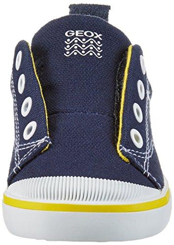 Geox B Kiwi Boy A, Chaussures Marche Bébé Garçon Bleu (NAVY/YELLOWC0657)