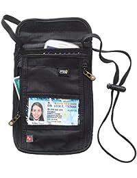 Lewis N. Clark RFID-Blocking Neck Stash Anti-Theft Hidden Wallet Black One Size