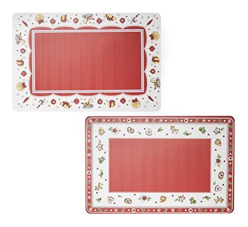 Excelsa Noël Napperon de Noël, plastique, rouge, 28,5 x 43 x 1 cm