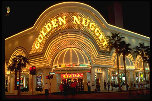638006 The Golden Nugget Las Vegas Nevada A4 Photo Poster Print 10x8 -