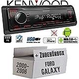 Ford Galaxy 1 - Autoradio Radio Kenwood KMM-204 - MP3   USB   iPhone - Android - Einbauzubehör - Einbauset