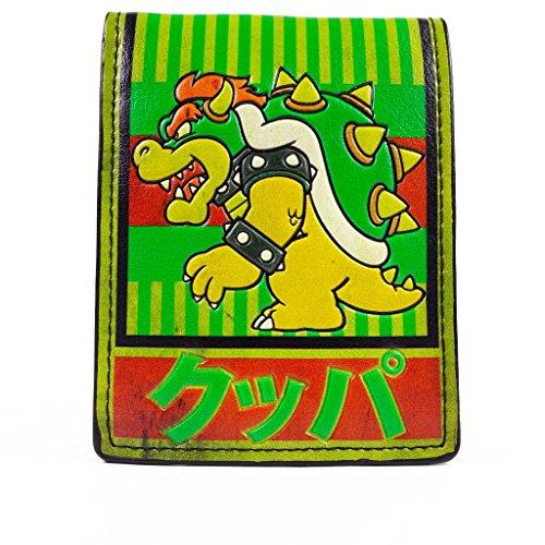 Cartera de Nintendo Bowser japonesa de rayas Verde