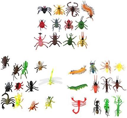 B Blesiya 36 Pièces Figures Insectes Insectes Insectes Mini Jouets Animaux Petits Bugs Complets pour Garçons Petits  s Souvenirs Fête   Porter-résistance  0f4c0d